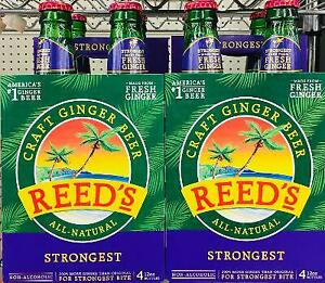 8 Bottles of Reed#x27;s Strongest Craft Ginger Beer * FAST FREE SHIPPING *