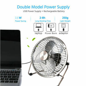 Rechargeable Portable USB Cooling Mini Fan Clip On Desk Baby Stroller