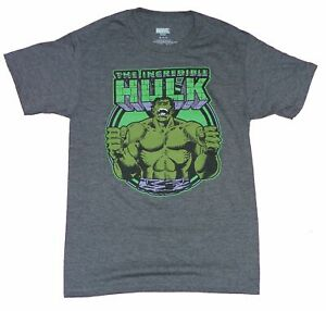 Hulk Mens T Shirt Incredible Flexing Circled Under Logo $18.99