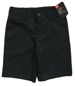UNDER ARMOUR Boys Golf Shorts HeatGear Casual Dress Black NWT $30 YOUTH 4 6 7 $19.99