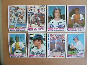 1982 Topps TEAM SET Los Angeles Dodgers 29 cards