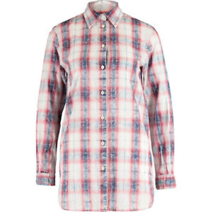 DIESEL BLACK GOLD Designer Check Oversized Relaxed Fit Shirt