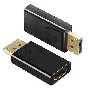 LOT Display Port to HDMI Male Female Adapter Converter DisplayPort DP to HDMI