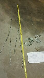 Replacement porch swing / swing chain hardware kit