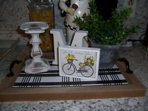 Sweet Summertime Lemon sign Tiered Tray decor Farmhouse Kitchen bike
