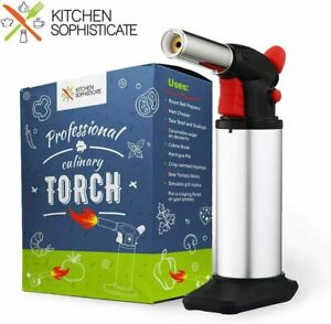 Professional Culinary Torch (Butane) Kitchen Cooking Tool for Searing Food,...