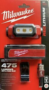 Milwaukee 2111 21 475 Lumen LED Rechargeable Headlamp Brand New Free Shipping