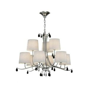 Suspended Lights Modern Design Chrome Shades 9 Lights Man andrea-6311