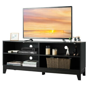 58quot; Modern Wood TV Stand Console Storage Entertainment Media Center Espresso $159.99