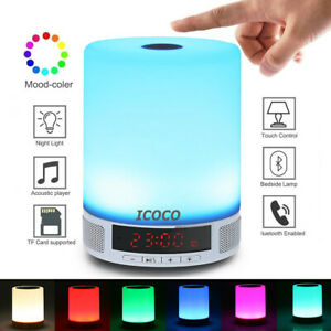 7 Modes Touch Table Lamp Desk Bedside Night Light Bedroom Nightstand Home Decor
