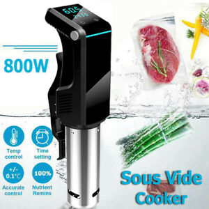 Digital Sous Vide Culinary Cooker Accurate Immersion Circulator Timer Stainless