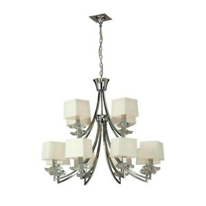 Suspended Lights Modern Design Crystal Lamp Shades Cream Man akira-0942