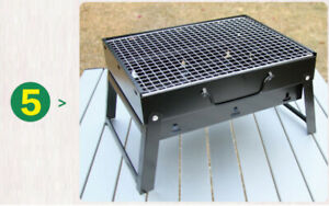 Outdoor Cooking BBQ Portable Charcoal Barbecue Stove Grill Picnic Camping Wood