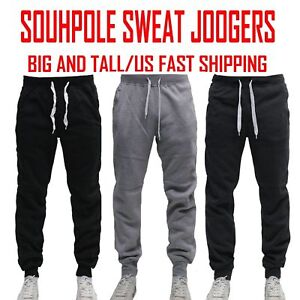 BIG AND TALL FLEECE JOGGER SOUTHPOLE Active Slim Fit Unisex Sweat Pants 4 6XL