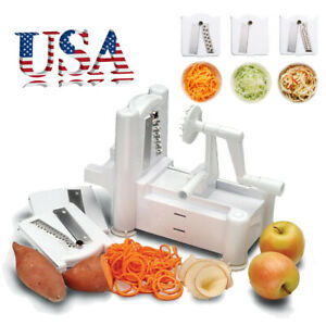3 in 1 Vegetable Slicer Spiralizer Veggie Pasta Maker Fruit Chopper Shredder USA
