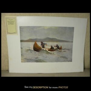 1907 Frederick Remington Artist Proof Chromolithograph The Howl of the Weather $165.00