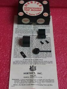 NICE VINTAGE Medium HERTERS LARGE THUMB WHEEL 1 SCOPE RING