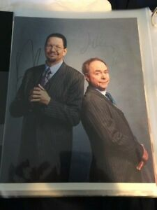 PENN AND TELLER SIGNED 8 x 10 photo autograph photo Magicians