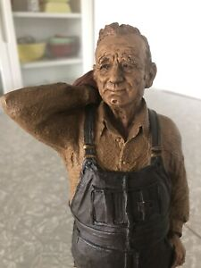 Tom Clark Farmer Figurine; Marion; Hand Signed EDITION ONE Cairn Studios