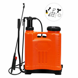 15L Backpack Hand Pump Sprayer for Garden Fertilizer Pesticide Disinfection USA