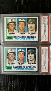 Lot of 2 1982 Topps Cal Ripken Jr. Rookie Card. Both PSA MINT 9. Card #21 Gem