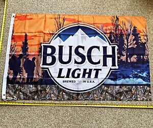 Busch Light Flag FREE SHIPPING Orange Camo Woods Dilly Bud Light Poster Banner
