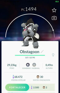Pokemon Go TRADE Galarian Obstagoon Lv20 Great League Safe Cheap amp; Fast
