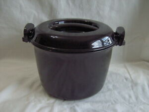 PAMPERED CHEF MICRO COOKER PLUS POT PAN 3 Qt MICROWAVE COOK COOKING Rice Pasta +