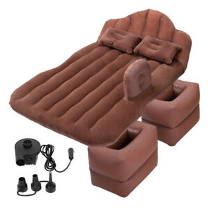 Inflatable Car Mattress Bed Cushion Travel Camping Back Seat Sleep with Pillows