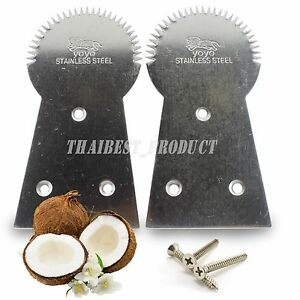 1 x Thai Teeth Coconut Grater Stainless Steel Thai Cook Scrape Milk (Free Ship)