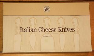 Williams-Sonoma 5 Set Italian Cheese Knives Olive Wood Handle