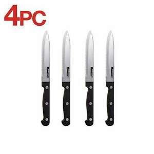 Ronco 4 Piece Steak Knife Set,Stainless-Steel Serrated Blades, Full-Tang Knives