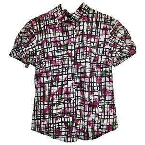Paul Smith abstract print shirt unique and individual style Cotton Size 10 UK