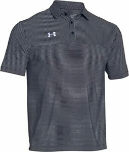 Under Armour Golf Clubhouse Polo Shirt Black White Style 1253479 435 XL $29.95