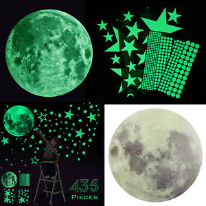 435Pcs Glow In The Dark Luminous Stars amp; Moon Planet Space Wall Stickers Decal $9.98