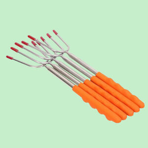 Telescoping BBQ Marshmallow Roasting Sticks Smores Skewers Hot Dog Fork  teyp