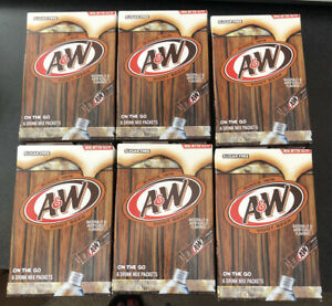 Aamp;W Root Beer Drink Mix Singles to Go 6 Boxes 36 Packets total Sugar Free