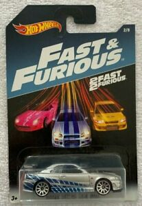 Hot Wheels: 2 Fast 2 Furious Nissan Skyline GT R R34 Free Shipping