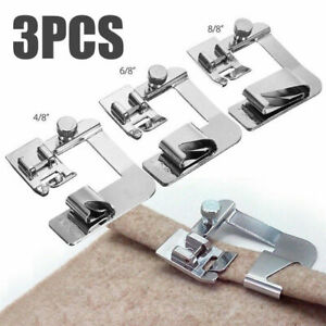 3Pcs Domestic Hemming Sewing Foot Presser Rolled Feet For Brother Singer Machine $9.49