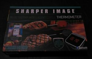 Sharper Image Bluetooth Intelligent BBQ GRILL Thermometer Wireless Father's Day!