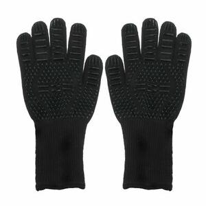 BBQ Gloves Oven Mitts Grilling Black Durable Welding Roast chicken Mashed potato