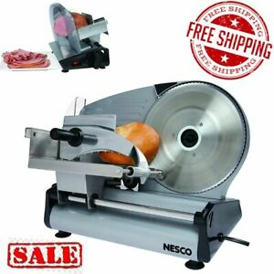 Electric Meat Food Slicer Deli Cheese Bread Cutter Blade Stainless Steel Machine