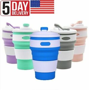 Folding Silicone Cup Portable Silicone Collapsible Coffee Travel Cup Collapsible