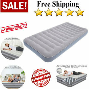Air Bed Mattress Large Intex Inflatable Downy Sleep Camping W/ Electric Pump USA
