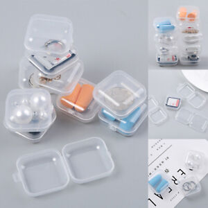20PCS Mini Plastic Small Box Hook Clear Jewelry Earing Earplug Container Storage $2.79