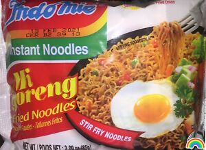 {4 Pack} INDOMIE Mi Goreng Instant Fried Noodles Original 100% Halal