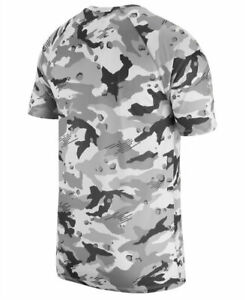 Nike Dry Mens White Camo Crew Neck Short Sleeve T Shirt $21.34