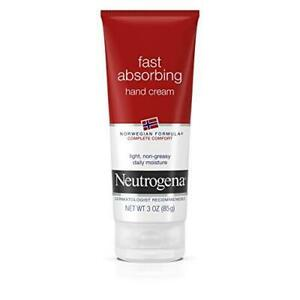 Neutrogena Fast Absorbing Hand Cream Norwegian Formula, 3 OZ., NEW