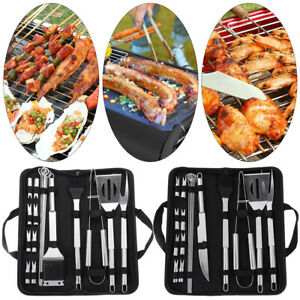 Grill Barbecue Cooking Kit Utensil Accessories BBQ Tool Set Stainless Steel