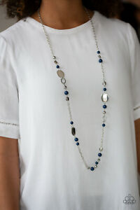 Serenely Springtime Blue Necklace By: Paparazzi